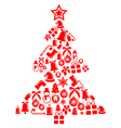 ornament christmas tree isolated on white vector image