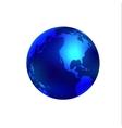Blue world globe vector image