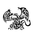Dragon tatoo Tribal vector image