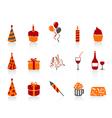 simple color birthday icon vector image