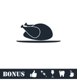 Chicken icon flat vector image