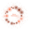round frame with snowflakes isolated on white vector image