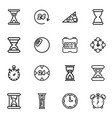 16 hour icons vector image vector image