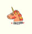 a rainbow unicorn head vector image