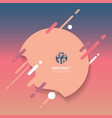 abstract background with geometric splash lines vector image