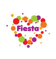 abstract logo for the fiesta vector image vector image