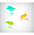 abstract vibrant logos may be used vector image vector image