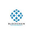 blockchain logo design template vector image vector image