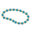 blue pearl necklace icon cartoon style vector image