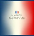 blurred color france flag background vector image