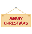 board with Merry Christmas congratulation vector image vector image