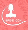 bride icon rose vector image vector image