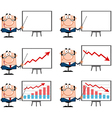 Business Manager Presenting On A Board Collection vector image vector image