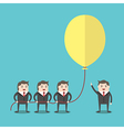Business people holding balloon vector image vector image