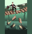 business risk concept vector image vector image