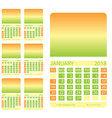 calendar grid first six months vector image