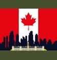 canadian cityscape scene icon vector image