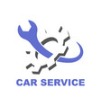 car service symbol emblem sign vector image