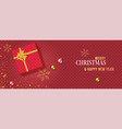 christmas banner background and wrapping paper vector image