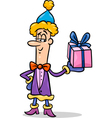 christmas elf cartoon vector image vector image