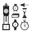 clocks icon set vector image