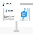 company bill board ad design with logo and vector image vector image