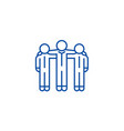 cooperationteamwork line icon concept vector image vector image