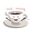 cute cartoon cup coffee vector image