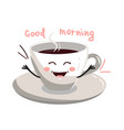 cute cartoon cup of coffee vector image