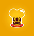 dog cook logo for street food barbecue vector image
