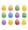 easter eggs set two vector image vector image