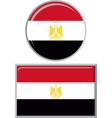 Egyptian round and square icon flag vector image