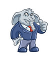 elephant business mascot design vector image vector image