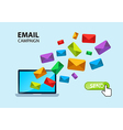 Email internet capaign concept vector image vector image