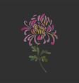 embroidered chrysanthemum flower design vector image