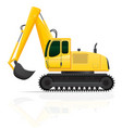 excavator vector image vector image