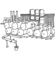 factory pipes vector image vector image