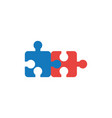flat design style concept of two puzzle pieces vector image vector image