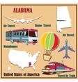 Flat map of Alabama vector image