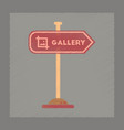 flat shading style icon sign gallery vector image vector image