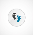 footprints icon 2 colored vector image vector image