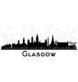 glasgow scotland city skyline with black vector image vector image