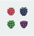 grapes pixel art icons set vector image vector image