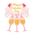 happy valentines day stamp badge sticker with vector image vector image