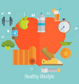 health and sport lifestyle and info graphic vector image vector image