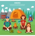 Hiking flat concept vector image vector image