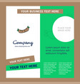 hot dog company brochure template busienss vector image vector image