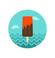 Ice Cream icon Summer Vacation vector image vector image