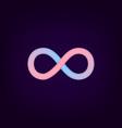 infinity symbol icon logo template loop design vector image vector image