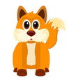 isolated cute fox vector image vector image